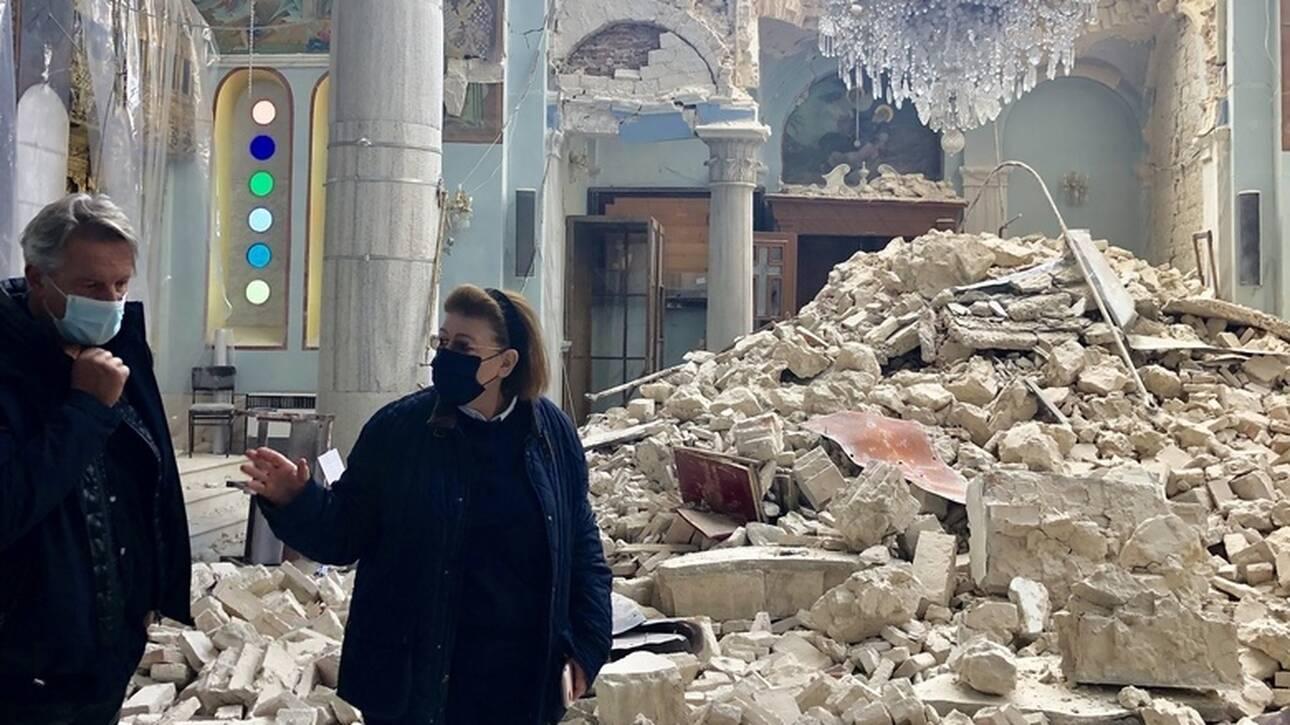 Σεισμός στη Σάμο: Αυτοψία της Μενδώνη στα μνημεία του νησιού