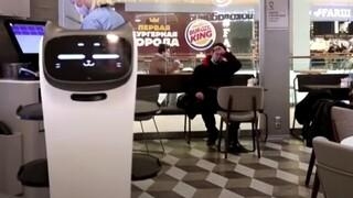 Ρωσία: Ρομπότ - γάτα σερβιτόρος σε καφέ