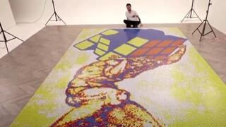 Καλλιτέχνης έφτιαξε μωσαϊκό με 6.000 κύβους του Ρούμπικ μέσα σε 16 ώρες