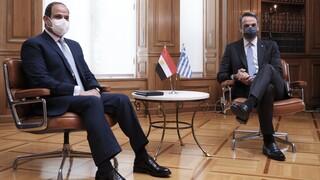 Δηλώσεις Μητσοτάκη - Αλ Σίσι: Θεμέλιο σταθερότητας η τριμερής Ελλάδας, Αιγύπτου και Κύπρου