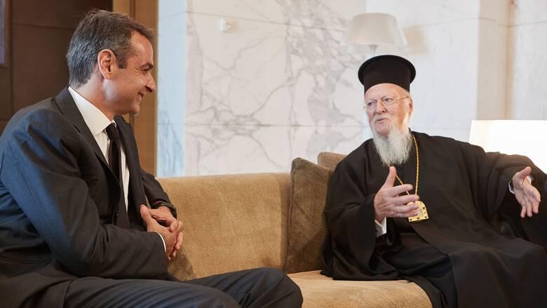 Τηλεφωνική επικοινωνία Μητσοτάκη με τον Οικουμενικό Πατριάρχη Βαρθολομαίο