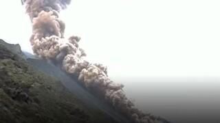 Ιταλία - Συγκλονιστικά πλάνα: Έκρηξη στο ηφαίστειο Στρόμπολι