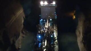 Αναστέλλονται οι διελεύσεις πλοίων από τη διώρυγα της Κορίνθου μετά την κατολίσθηση