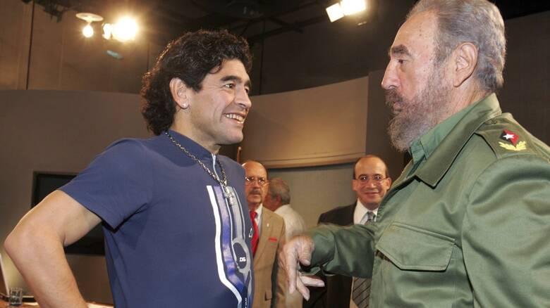 Ντιέγκο Μαραντόνα και Φιντέλ Κάστρο: Δύο φίλοι που πέθαναν την ίδια ημέρα
