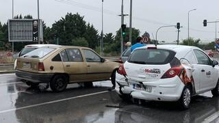Καραμπόλα 11 αυτοκινήτων στη Θεσσαλονίκη