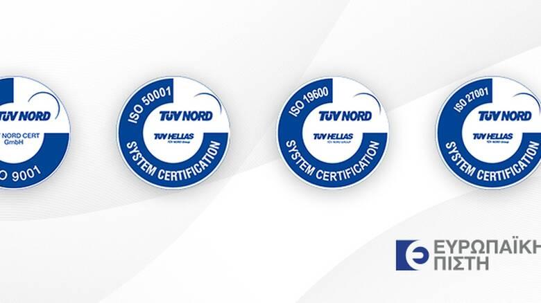 Ευρωπαϊκή Πίστη – Η μοναδική ασφαλιστική Εταιρία στην Ελλάδα με 4 διεθνή πρότυπα ISO