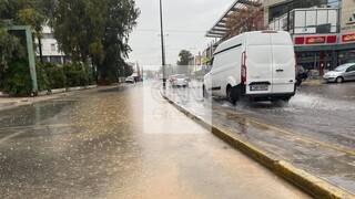 Κακοκαιρία στην Αττική: Κίνηση και προβλήματα στους δρόμους