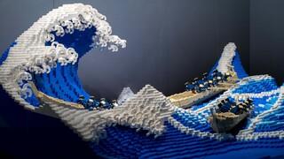 Το «Μεγάλο Κύμα» του Χοκουσάι σε Lego: Ένα μοναδικό έργο τέχνης με 50 χιλιάδες τουβλάκια