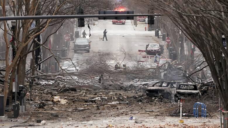 Έκρηξη στο Νάσβιλ: Ανατινάχθηκε αυτοκινούμενο - Εσκεμμένη ενέργεια «βλέπει» η αστυνομία