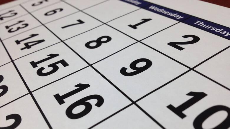 Αργίες 2021: Πότε πέφτουν τα τριήμερα της νέας χρονιάς