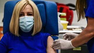 Γεννηματά: Με το εμβόλιο η ελπίδα επιστρέφει - Εμβολιάστηκε η πρόεδρος του ΚΙΝΑΛ