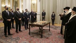 Η ορκωμοσία των νέων υπουργών - Σε τρεις φάσεις