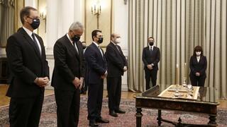 Ορκίστηκε η πρώτη ομάδα των νέων υπουργών της κυβέρνησης