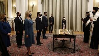Ορκίστηκε η ομάδα των νέων υφυπουργών της κυβέρνησης