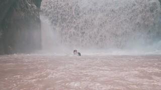 Εντυπωσιακό βίντεο: Θεοφάνεια στους καταρράκτες Παλαιοκαρυάς Τρικάλων