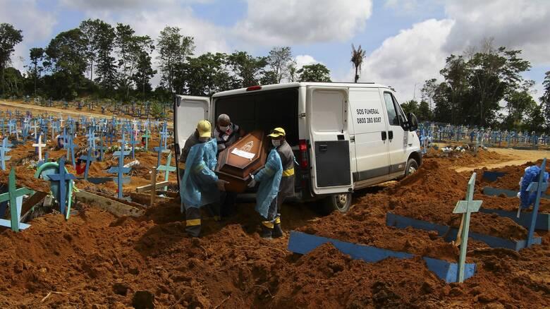 Βραζιλία- Κορωνοϊός: Πάνω από 63.000 κρούσματα και 1.242 θάνατοι τις τελευταίες 24 ώρες