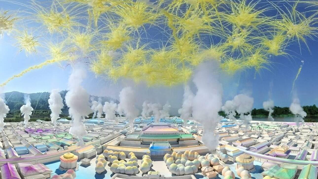 Εικονική τελετή με πυροτεχνήματα στην Απαγορευμένη Πόλη από Κινέζο καλλιτέχνη