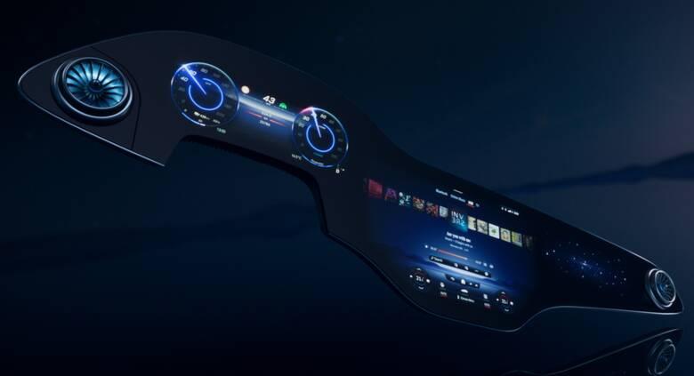 Στη νέα ηλεκτρική ναυαρχίδα της Mercedes, την EQS, όλο το ταμπλό θα μπορεί να είναι μια οθόνη