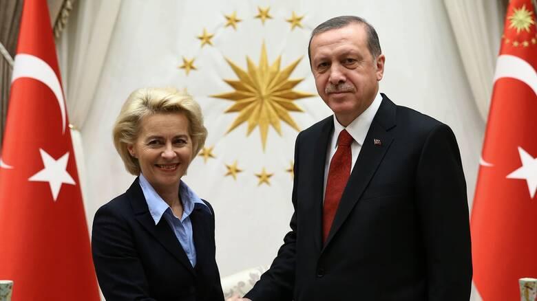 Τηλεδιάσκεψη Φον ντερ Λάιεν - Ερντογάν το Σάββατο: Στο επίκεντρο οι ευρωτουρκικές σχέσεις