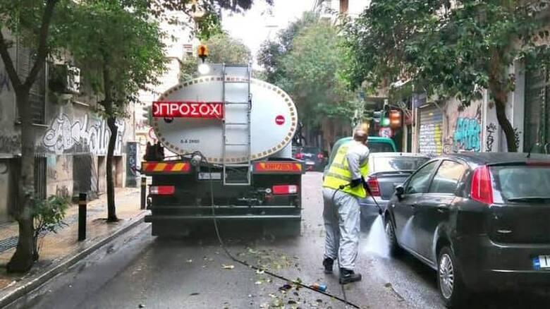 Δήμος Αθηναίων: Στην Κυψέλη η πρώτη μεγάλη επιχείρηση καθαριότητας για το 2021