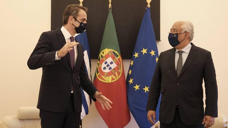 Μητσοτάκης με Κόστα: Η συζήτηση για τον κορωνοϊό και η σύγκριση Ελλάδας - Πορτογαλίας