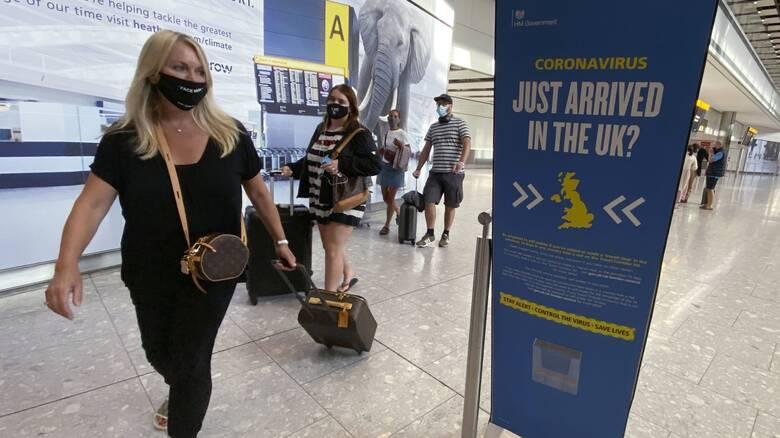 Κορωνοϊός: Μόνο με αρνητικό τεστ η είσοδος στη Βρετανία από τις 15 Ιανουαρίου