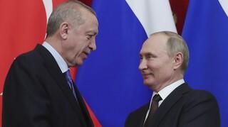 Τηλεφωνική επικοινωνία Πούτιν - Ερντογάν για το Ναγκόρνο Καραμπάχ