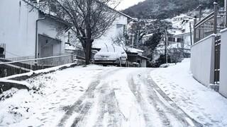 Κακοκαιρία «Λέανδρος»: Προβλήματα στα νησιά του Β. Αιγαίου λόγω των χιονοπτώσεων