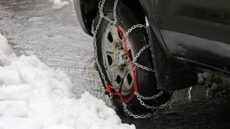 Κακοκαιρία «Λέανδρος»: Προβλήματα στο οδικό δίκτυο της Πελοποννήσου – Πού χρειάζονται αλυσίδες