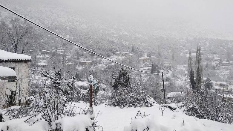 Κακοκαιρία «Λέανδρος»: Ανέβασε έως το 30% τη χιονοκάλυψη της χώρας
