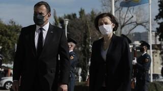 Rafale: Στο υπουργείο Εθνικής Άμυνας η Γαλλίδα υπουργός Άμυνας