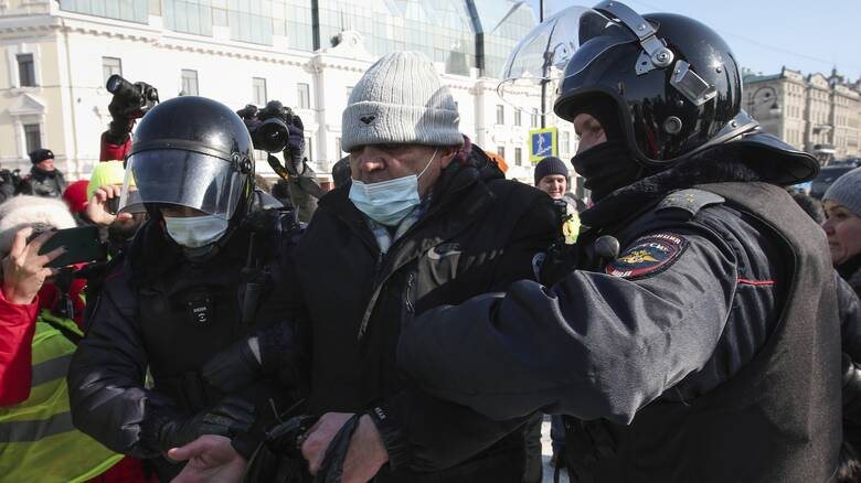 Ρωσία: Πάνω από 5.300 συλλήψεις στις χθεσινές διαδηλώσεις υπέρ του Ναβάλνι