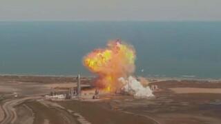 Space X: Εξερράγη το πρωτότυπο του πυραύλου Starship κατά την προσγείωση