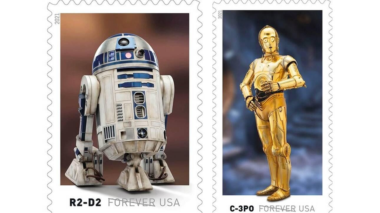 «Star Wars»: Τα droids γίνονται γραμματόσημα από τα Αμερικανικά Ταχυδρομεία