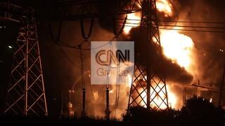 Μπλακ άουτ σε Αττική και Πελοπόννησο: Εικόνες από τη φωτιά στον Ασπρόπυργο