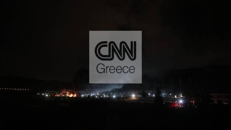Ασπρόπυργος: Μικτό κλιμάκιο διερευνά τα αίτια της πυρκαγιάς στον υποσταθμό του ΑΔΜΗΕ
