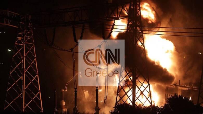 Φωτιά σε σταθμό υψηλής τάσης στον Ασπρόπυργο: Αποκαταστάθηκαν τα περισσότερα προβλήματα
