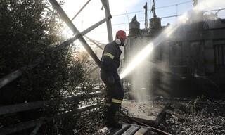 Φωτιά στον Ασπρόπυργο: Καρέ - καρέ η επόμενη μέρα στον υποσταθμό της ΑΔΜΗΕ