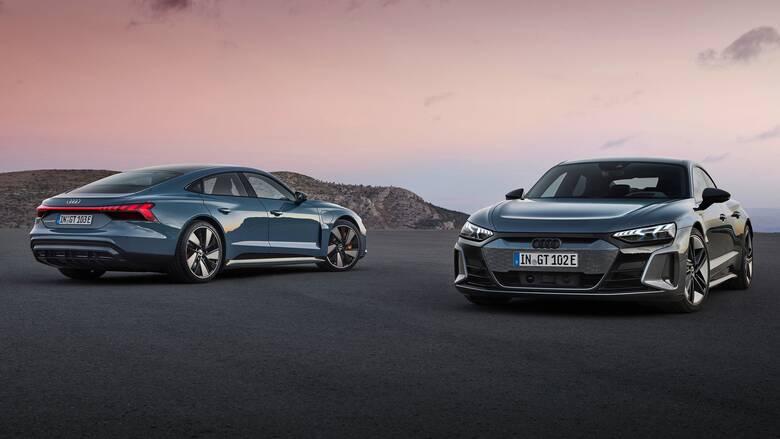 Η Audi διευρύνει την ηλεκτρική της γκάμα με τα σπορ e-Tron GT quattro και RS e-Tron GT