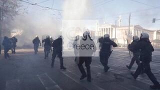 Πανεκπαιδευτικό συλλαλητήριο: Βίντεο από drone - Τι λέει η αστυνομία για τα επεισόδια