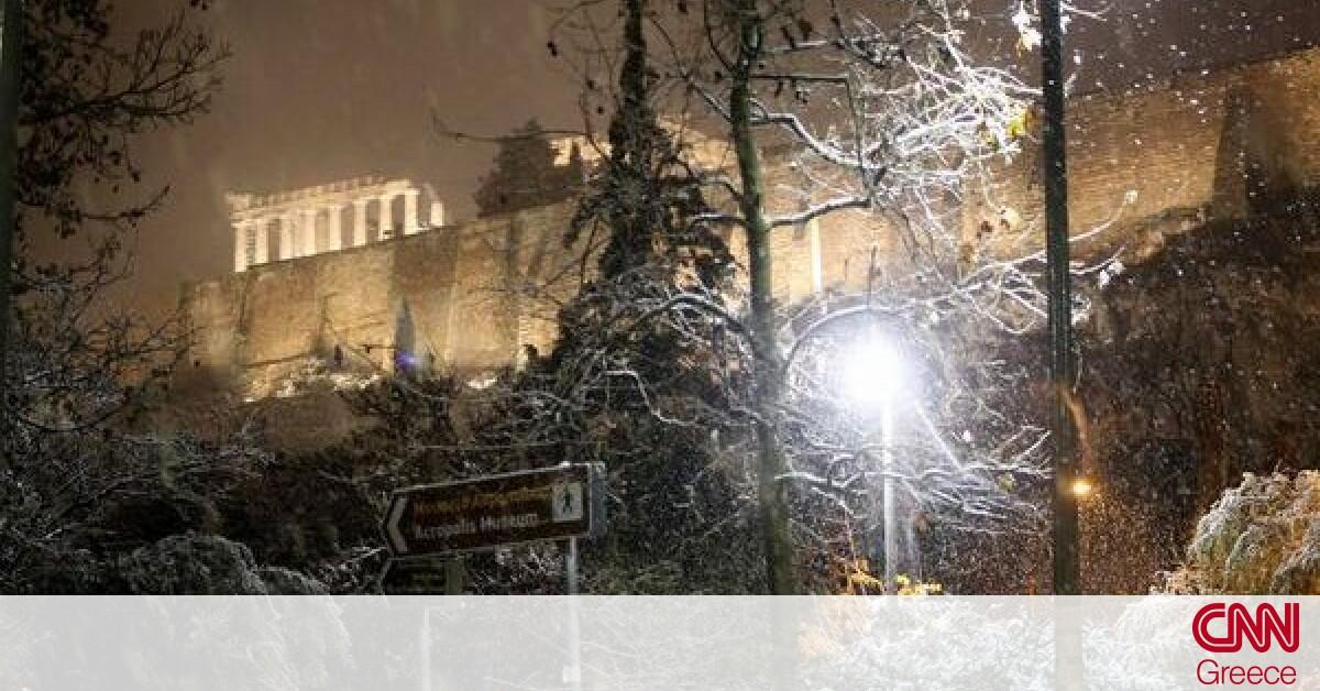 Κακοκαιρία: Στο έλεος της «Μήδειας» η χώρα – Πυκνό χιόνι μέσα στην Αθήνα