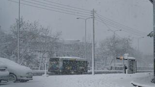 Κακοκαιρία «Μήδεια» - ΟΑΣΑ: Μετά τις 07:00 τα δρομολόγια των λεωφορείων την Τετάρτη