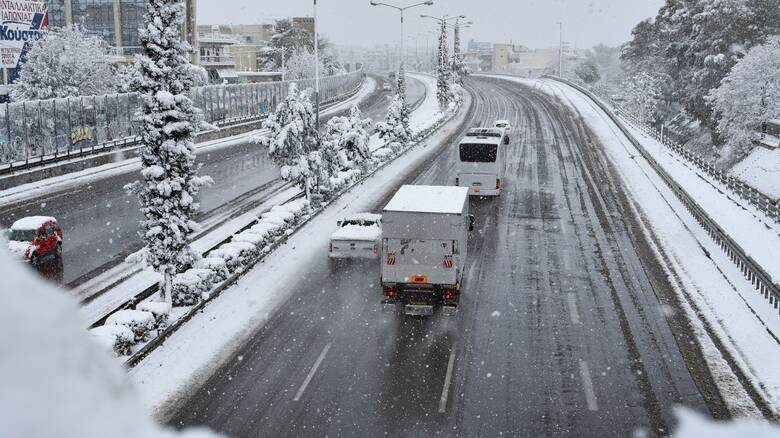 Κακοκαιρία «Μήδεια»: Άνοιξε η Εθνική οδός Αθηνών - Λαμίας