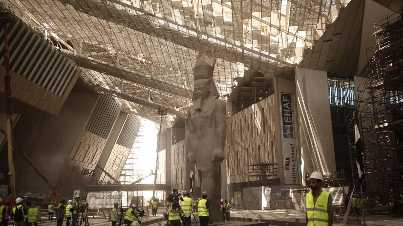 «Σχεδόν» έτοιμο το Μεγάλο Αρχαιολογικό Μουσείο της Γκίζας στο Κάιρο