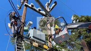 Η νεότερη ανακοίνωση του ΔΕΔΔΗΕ για τα προβλήματα στην ηλεκτροδότηση