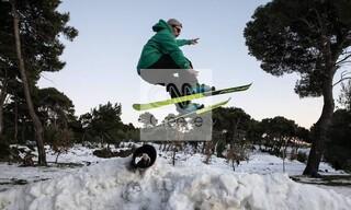 Πεντέλη: Μια αλλιώτικη πίστα για τους λάτρεις του snowboard
