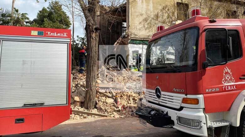 Κατέρρευσε κτήριο στην Πατησίων - Εντοπίστηκε ένας άνδρας