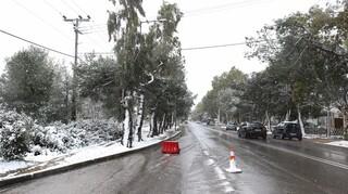 Διακοπή κυκλοφορίας στην λεωφόρο Πάρνηθος λόγω αυξημένης κίνησης