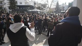 Εύοσμος: Πορεία διαμαρτυρίας κατοίκων κατά του σκληρού lockdown