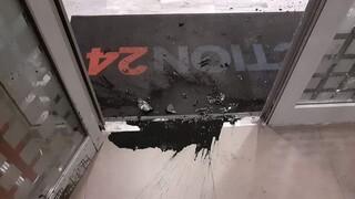 Επίθεση με μπογιές στον τηλεοπτικό σταθμό Action 24